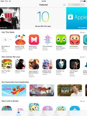 Install apps - Apple iPad Air 2 - iOS 10 - Digicel Phone Guides