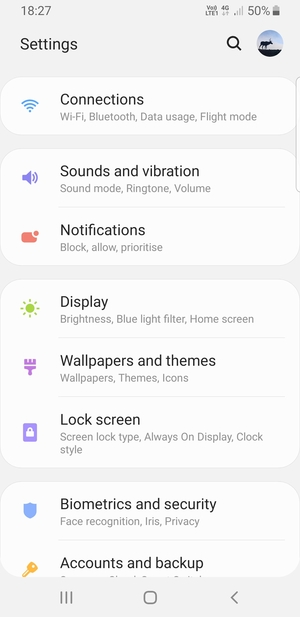 Switch between 3G/4G - Samsung Galaxy S9 - Android 9 0 - Device Guide