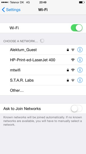 how to connect wifi to iphone 7