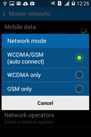 Switch between 2G/3G - Samsung Galaxy Core 2 - Android 4 4
