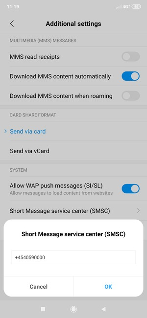 Set up SMS - Xiaomi Mi 9 - Android 9 0 - Smart Guides