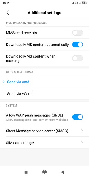 Sms Settings In Redmi Note 6 Pro