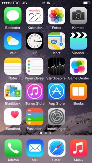 viderestilling iphone