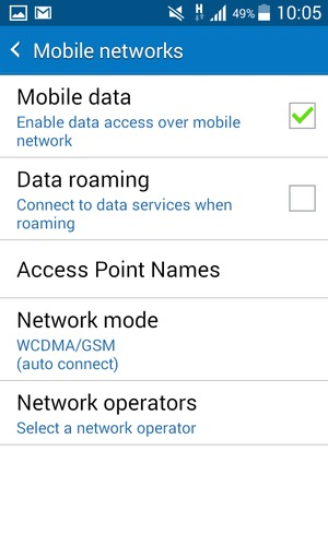 Switch between 3G/4G - Samsung Galaxy J1 4G - Android 4 4 - Device