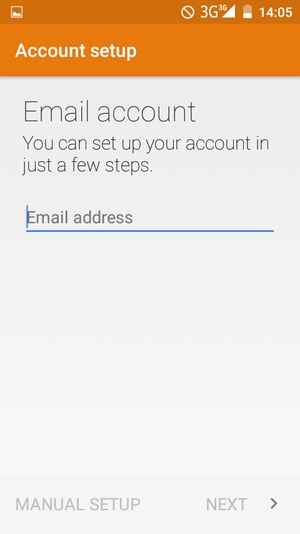 Enter your Gmail or Hotmail address. Select NEXT