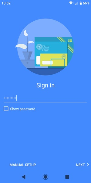 Enter your Hotmail password and select NEXT