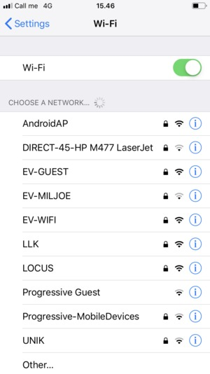 Set Wi-Fi to ON. Select the wireless network you want to connect to
