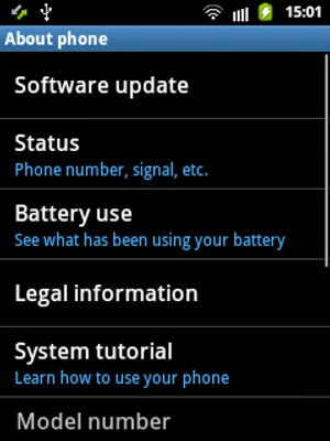 Update software - Samsung Galaxy Ace - Android 2 3 - Device