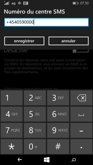 configurer les sms microsoft lumia 640 lte windows phone 8 1 device guides. Black Bedroom Furniture Sets. Home Design Ideas