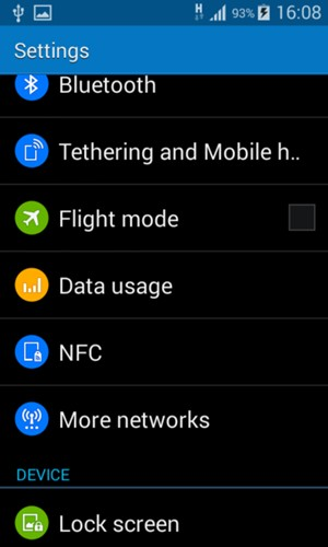 Switch between 3G/4G - Samsung Galaxy Core Prime - Android 4 4