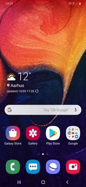 internet samsung galaxy a20 android