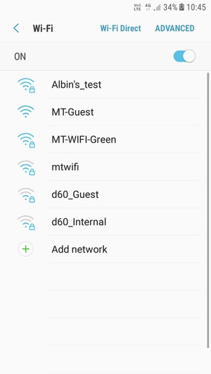 Connect to Wi-Fi - Samsung Galaxy J3 Pro (2017) - Android