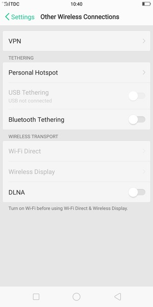 Use phone as modem - OPPO F5 - Android 7 1 - Device Guides