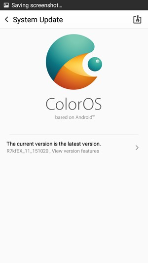 Update software - OPPO A33 - Android 5 1 - Device Guides