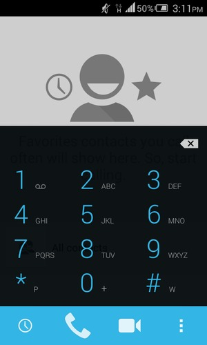 Access voicemail - Alcatel One Touch Pixi First - Android