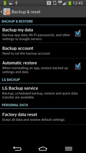 Back up phone - LG G Flex - Android 4.2