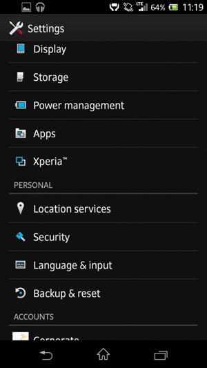 Return to the Settings menu and select Location services