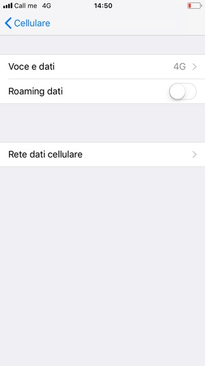 network dati cellulare iphone 8