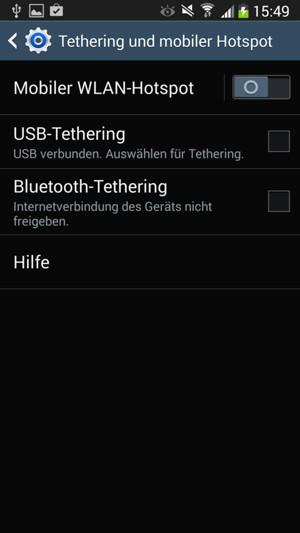 verwendung des handys als modem samsung galaxy s4 mini android 4 2 2 device guides. Black Bedroom Furniture Sets. Home Design Ideas