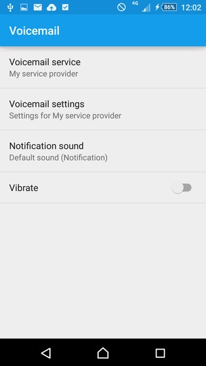 Select Voicemail settings