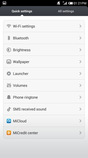 Set up Internet - Xiaomi Mi 3 - Android 4 4 - Device Guides