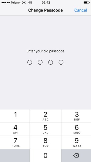 Enter your old passcode