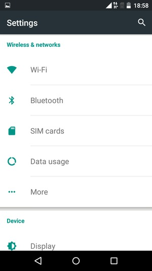 Set up Internet - Itel IT1505 - Android 5 1 - Device Guides