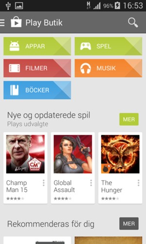 installera appar android