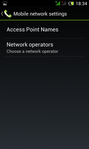 Select Access Point Names