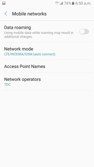 Set up Internet - Samsung Galaxy J2 Prime - Android 6 0