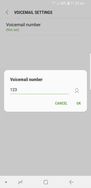 Access voicemail - Samsung Galaxy S9 - Android 8 0 - Device