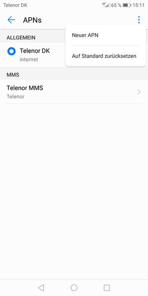 Einrichten Von Internet Huawei P20 Lite Android 80 Device Guides