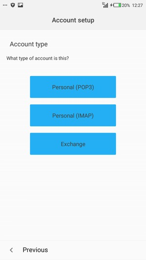 how to set up pop3 account in outlook android app