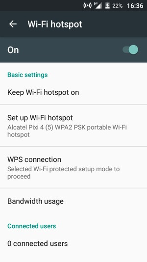 Your phone is now set up for use as a modem