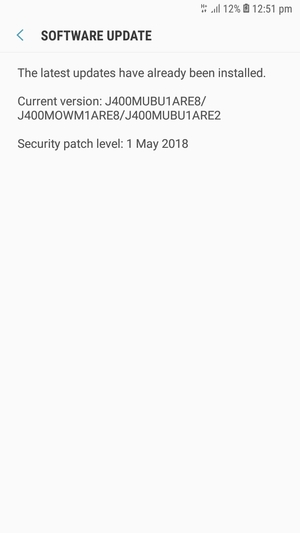 Update software - Samsung Galaxy J4 - Android 8 0 - Device Guides