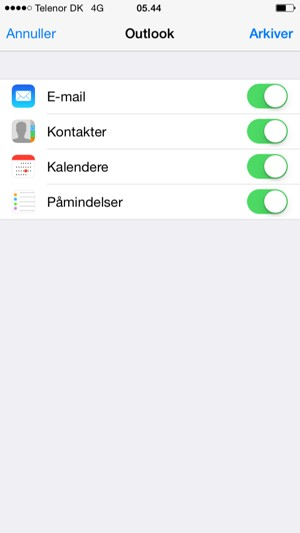 hotmail på iphone 5