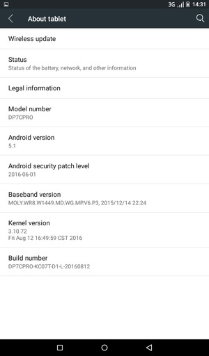 Update software - Tecno DroiPad 7C Pro - Android 5 1 - Device Guides