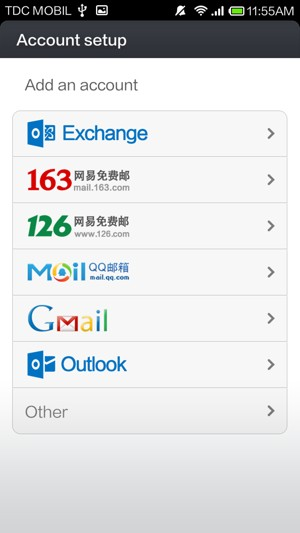 Set up POP3/IMAP email - Xiaomi Redmi Note - Android 4 2