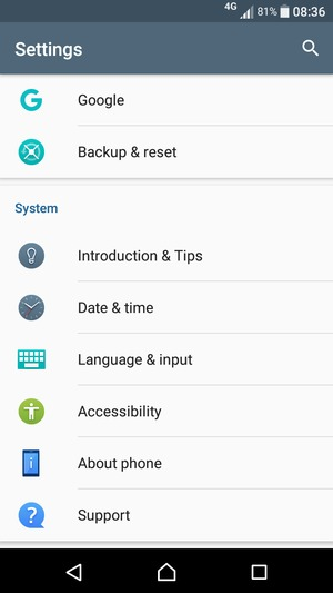 Update software - Sony Xperia E5 - Android 6 0 - Device Guides