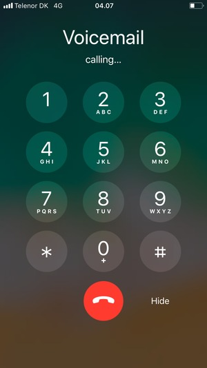 How to setup voicemail on iphone 6s plus