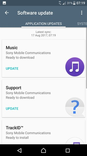 Update software - Sony Xperia L2 - Android 7 1 - Device Guides