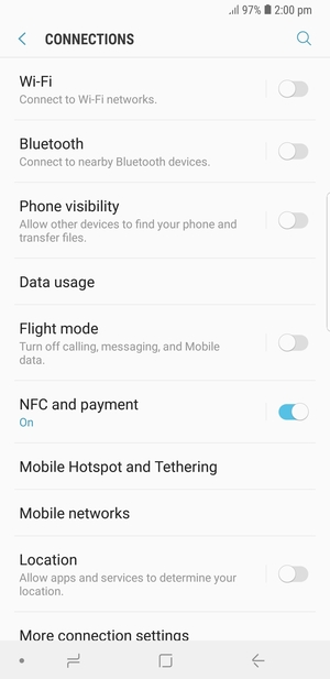 Switch between 3G/4G - Samsung Galaxy Note9 - Android 8 1
