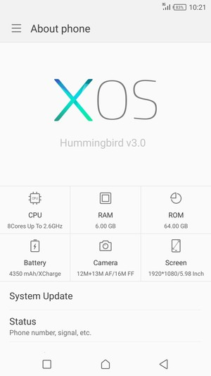 Update software - Infinix Zero 5 Pro - Android 7 0 - Device