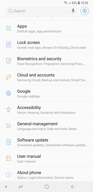 Back up phone - Samsung Galaxy A7 (2018) - Android 8 0