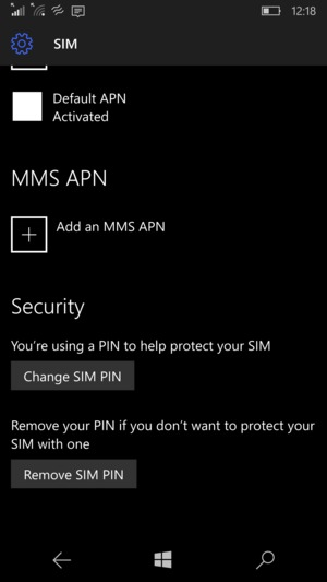 Scroll to and select Change SIM PIN