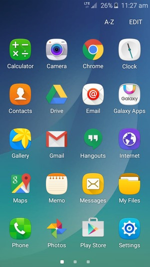 Import contacts - Samsung Galaxy J2 - Android 5 1 - Device