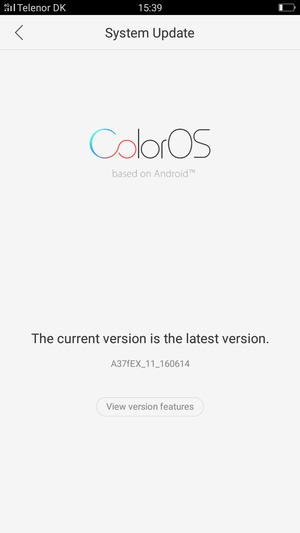 Update software - OPPO A37 - Android 5 1 - Device Guides