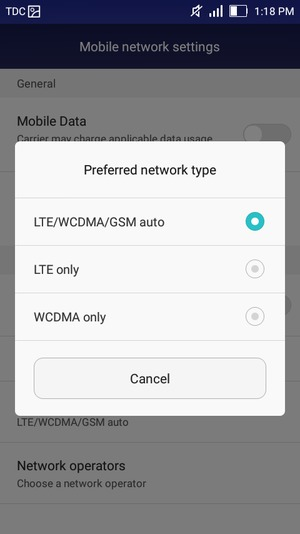 Switch between 3G/4G - Huawei Y5 - Android 5 1 - Device Guides