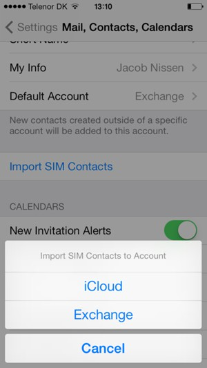 Import contacts - Apple iPhone 4 - iOS 7 - Device Guides