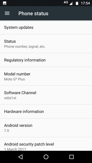 Update software - Motorola Moto G5 Plus - Android 7 0 - Device Guides